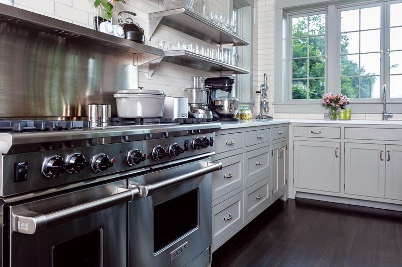 Industrial Kitchen Appliances: Elegant Industrial-Inspired Kitchen