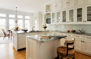 Jean Rapone and Cook & Cook Cabinetry created this breathtaking all-white kitchen in Maine.