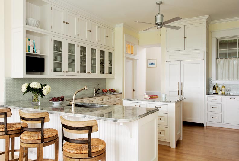 A Classic All White Kitchen Old House Online Old House Online