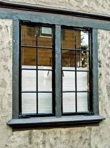Repaired steel casement window