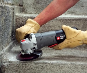 An angle grinder from Porter Cable