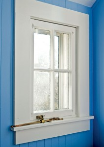 Repaired window sill with Dutchman patch