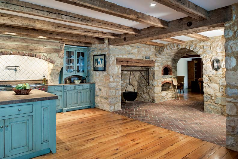 Primitive colonial inspired kitchen old house online old house online Kitchen design colonial home