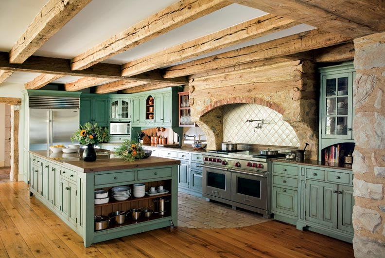 Primitive Colonial Inspired Kitchen  Old House Online  Old House