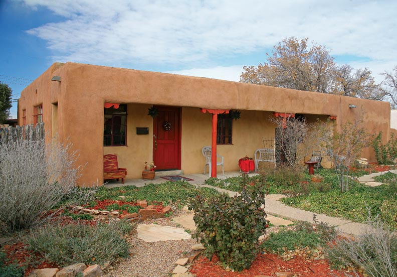 Pueblo revival houses in santa fe old house online old for Santa fe style homes