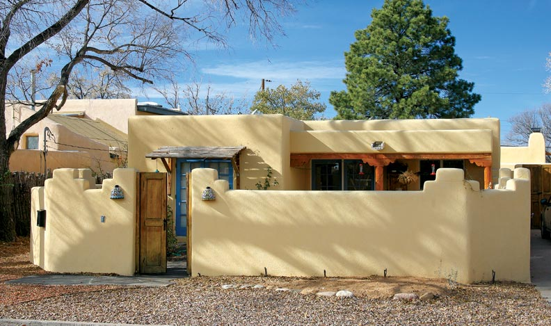 Pueblo revival houses in santa fe old house online old for Santa fe style manufactured homes