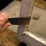 Step 7: Tooling the face putty