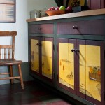 Kitchen cabinets are finished with washes and waxes over custom-mixed base colors.