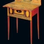 A Federal-painted sideboard table, whimsically painted, ca. 1810-1830.