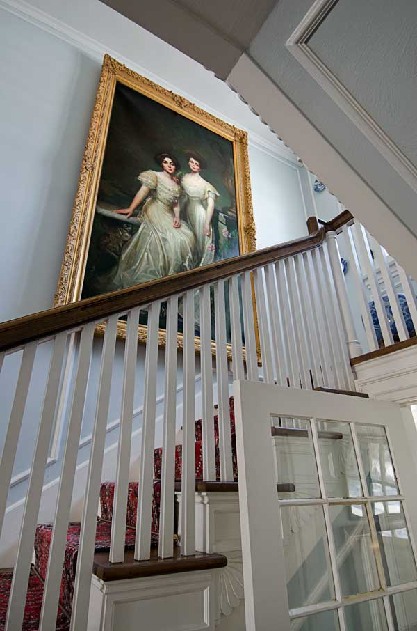 Federal farmhouse restored in colonial revival style old - Federal style interior paint colors ...