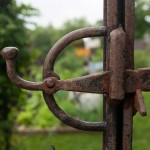 An antique latch came from a local salvage yard.