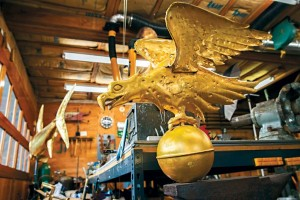 In addition to weathervanes, Holand creates other works of art out of copper, brass, stainless steel, and bronze.