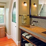 Custom closets and sinks within the countertop help streamline utility.