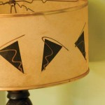 The 1950s lampshade came from Uncommon Objects in Austin, Texas.