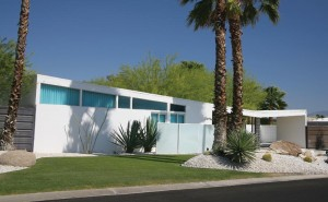 Bold, sweeping butterfly roofs were used in the 1959 Racquet Club Road Estates, designed by William Krisel.