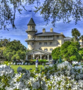 The massive turret of the Jekyll Island Club offers a 360-degree panorama.