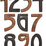 Hand-hammered copper and a classic Arts & Crafts font make these numbers from Mission Metalworks an ideal fit for bungalows.