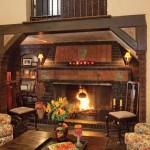 Old World elements include the fireplace inglenook, adorned with three original Batchelder tiles.
