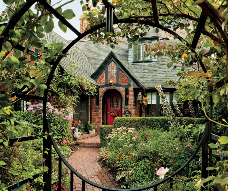 A textbook 1920s tudor in portland old house online for Garden design 1920 s