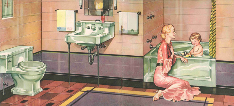 The Evolution Of Colored Bathroom Fixtures