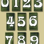 For a more artistic Arts & Crafts statement, try these Art Nouveau-style ceramic numbers from Fair Oak Workshops.