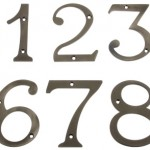 Clasically styled numbers like these from House of Antique Hardware work well on Colonial Revivals or Cape Cods.
