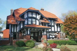 A picturesque Arts & Crafts home with Old English details.