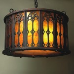 Mica Lamp Co. Iron Abbey chandelier