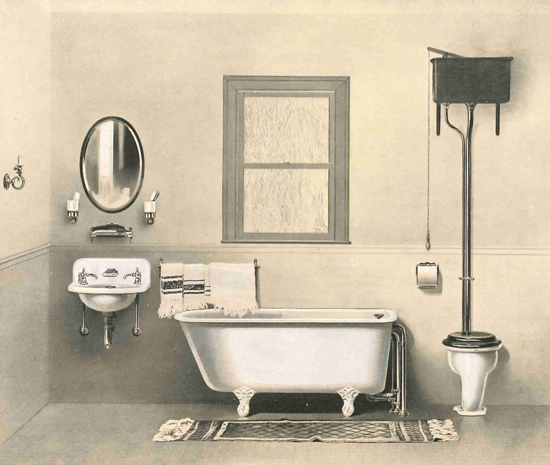 The history of the toilet old house online old house for Victorian era bathroom designs