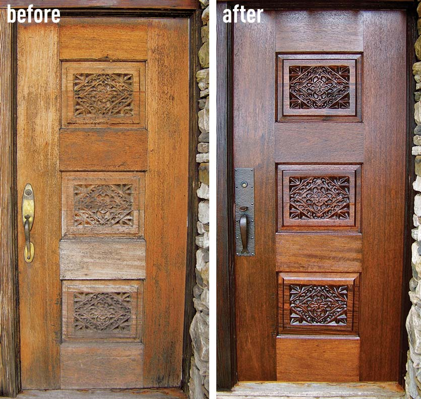 How To Refinish An Entry Door Old House Online Old House Online