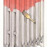 To polychrome, first use a brush to paint a solid coat of your highlight shade over the entire radiator; let it dry completely.