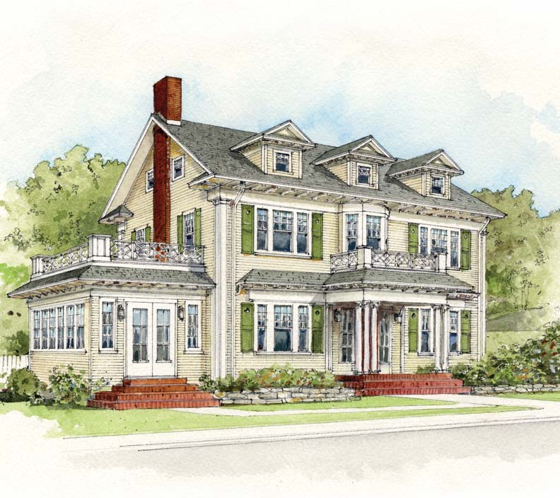 Your ideal home architecture page 6 for Colonial style homes for sale
