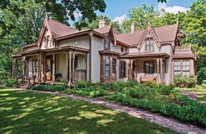 Known as Seven Gables, Ralph and Pamela Krainik's Gothic Revival in Baraboo, Wisconsin, was recently featured in a book of historic homes.
