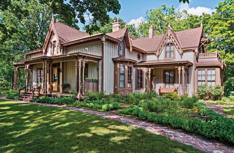 Lengthy restoration of a gothic revival cottage old for Gothic revival homes for sale