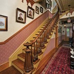 Every room is done up in mid-Victorian style with an emphasis on Gothic Revival motifs.