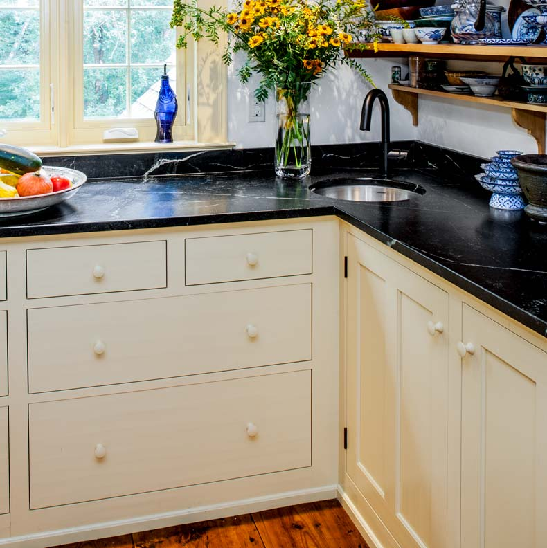 traditional kitchen in a new addition old house online