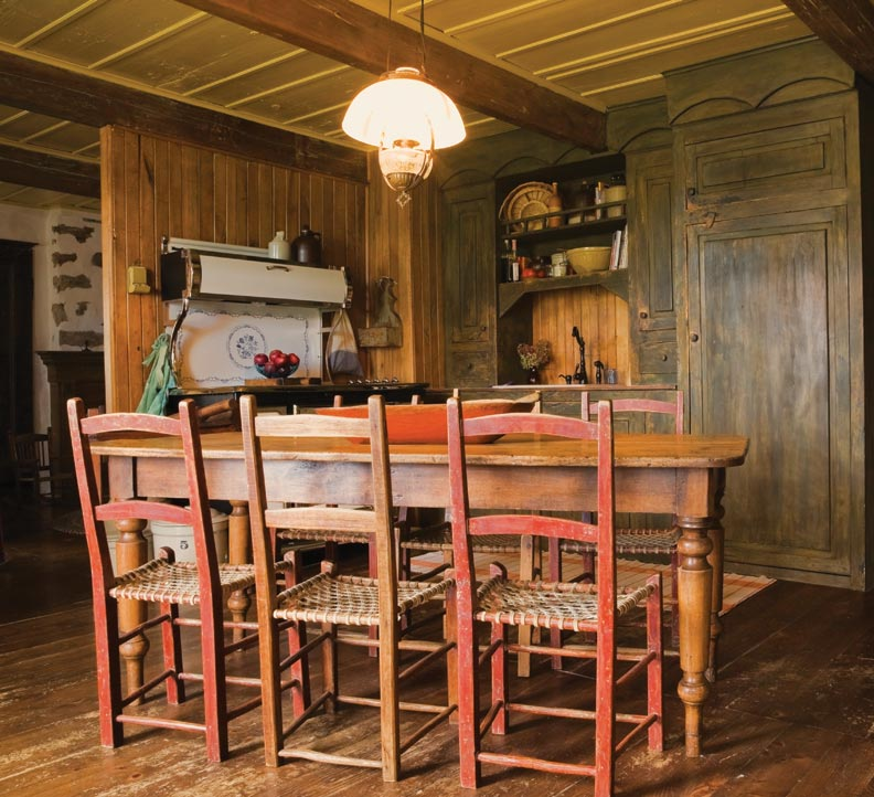 Vintage Rustic Kitchen Cabinets: Preserving A Stone House In Quebec