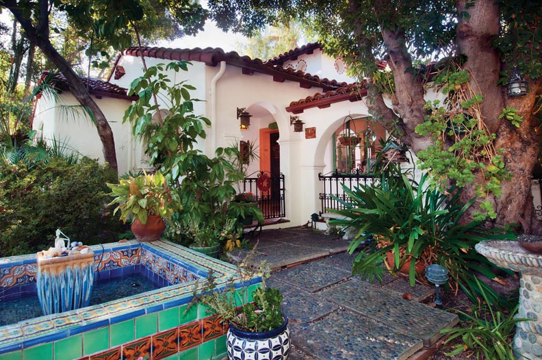 Restoring a 1930s spanish house old house online old for Spanish style fountains for sale