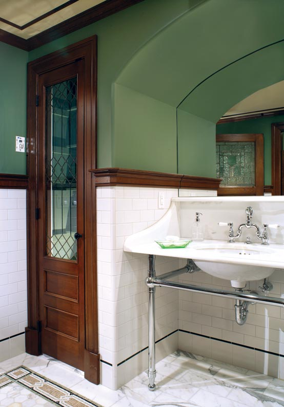 Bathroom Sinks Ireland : The double sink fits into an arched niche?a clever way of dealing ...