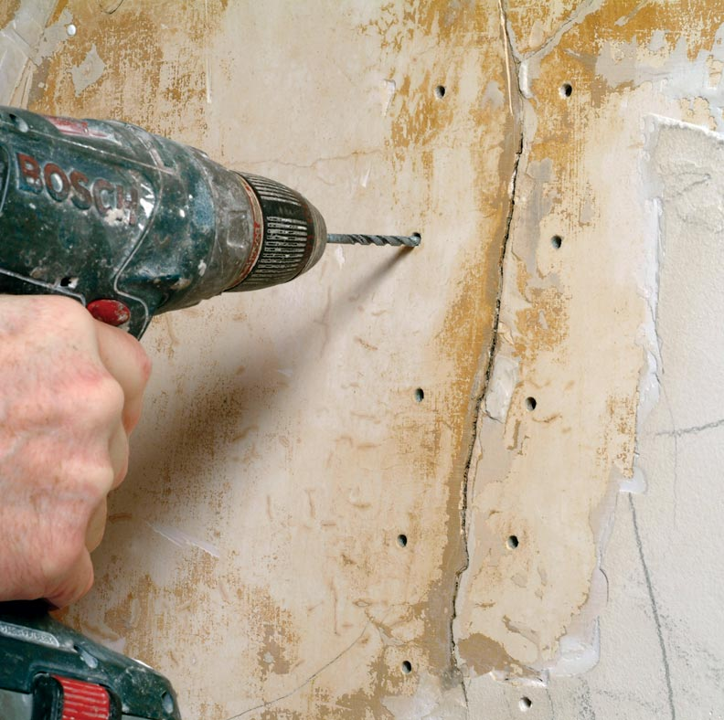 how to fix screws into loose plaster