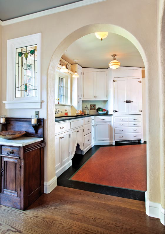 Classic White Kitchen For A 1920s Tudor Old House Online