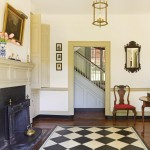 What is today the entry hall was the second parlor or dining room when the house was built.
