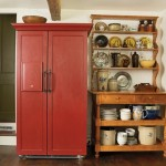 Owner Duane Heiler and son Chris built the maple hutch that displays a collection of vintage kitchen ware.