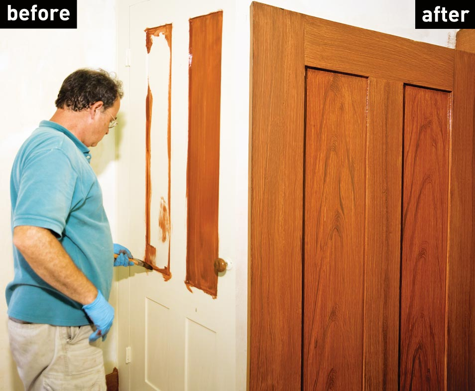 How to create a faux wood grain finish old house online for What is faux wood