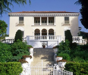H.J. Whitley's 1920s neoclassical house in Whitley Heights, Los Angeles