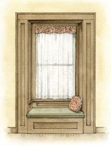 Shirred valance window treatment