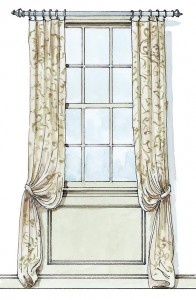 Curtain panels on rings