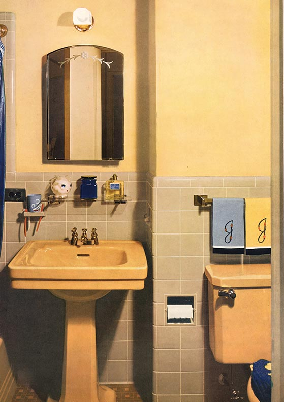 Guide to 20th century bathroom tile old house online for Bathroom ideas 1940