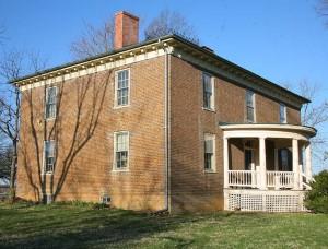 Brick Italianate house in Strasburg, Virginia