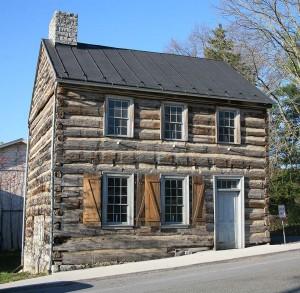 18th-century log house in Strasburg, Virginia